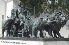 The bronze statue of the Marcus Antonius of Arthur Strasser stands on the right next to the building Secession Vienna Adhd Symptoms In Children, Art Nouveau, Art Deco, Modern Art Movements, Logo Design, Graphic Design, Statue, Projects To Try, Places To Visit