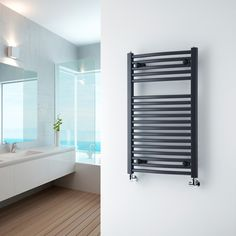 Transform your heating device into a feature by using bold colours like this anthracite.