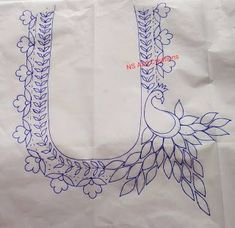 Peacock Embroidery Designs, Hand Embroidery Design Patterns, Textile Pattern Design, Hand Embroidery Videos, Hand Work Embroidery, Embroidery Flowers Pattern, Hand Embroidery Patterns, Machine Embroidery Designs, Aari Embroidery