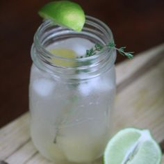 Gin and Gingers Recipe Beverages with ginger syrup, gin, carbonated water, lime