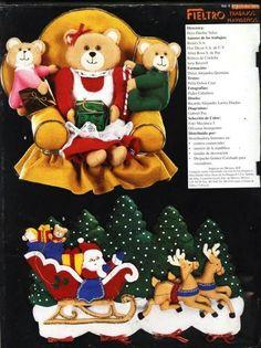 Fieltro vol. Felt Stocking, Corpus Christi, Christmas Sewing, Xmas, Christmas Ornaments, Felt Fabric, Sewing Projects For Beginners, Felt Crafts, Bowser