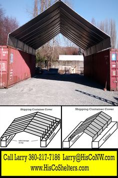 All Weather-Shield Shelter Cargo Shipping Container Cover...Save Hundred$ Make-Your-Own Kit ...Covers for One or Two Containers #container