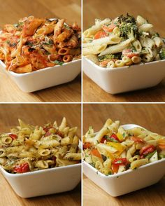 Easy One-Tray Pasta Bake Meal Prep~~4 different recipes using one sheet pan (use foil)