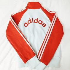 Adidas - Jacket Old school babyblue jacket w/ red strips. Still in great condition. Size small. Adidas Jackets & Coats