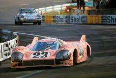 The infamous 'Pink Pig' Porsche 917, at Le Mans 1971
