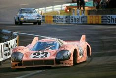 The infamous 'Pink Pig' Porsche 917, at Le Mans 1971