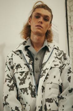 Pixellated cow print at Baartmans & Siegel SS16 LCM. Photography by Daisy Walker.
