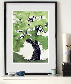 Eken (A study of trees) - Konsttryck - TAVLOR & POSTERS
