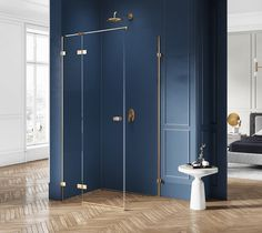 Złota kabina prysznocowa Avexa Gold polskiego producenta New Trendy. Dużą zaletą kabiny są smukłe i eleganckie detale. ------------------- #newtrendy #architektwnetrz #BathroomShower #ShowerSystems #kabinyprysznicowe #kabina #showercabin #przebudowadomu #projektowaniewnetrz #inspiracjelazienkowe #modernbathroom #instapic #tile #bedroom Tall Cabinet Storage, Locker Storage, Shower Cabin, Walk In, Lockers, Kitchen Decor, Gold, Furniture, Home Decor