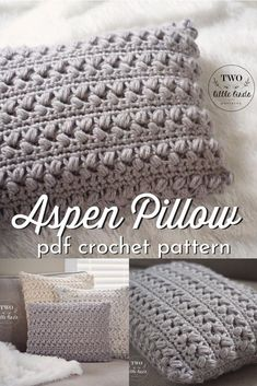 Lovely modern crochet pattern for this beautiful textured pillow! Can't wait to crochet this gorgeous throw pillow pattern! #crochetpattern #crochethomedecor #crafts #yarn #craftevangelist