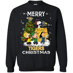 Towson Tigers Ugly Christmas Sweaters Snoopy And Friends Merry Christmas Sweatshirts