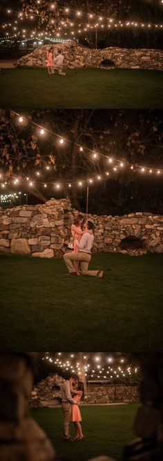 """""""He walked me to this open grass area and started examining every rock... Mid-sentence, he yelled, """"I FOUND IT!"""" He ran towards one of the rocks, picked up the ring box, and immediately got on one knee to finish his proposal."""""""