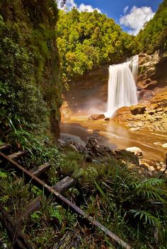 Mangatini Falls - For further information, a map, & photos:  http://www.amazingplacesonearth.com/