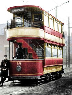 SCT-28'1-1929-T | Sunderland balcony tram 28 waits at the Gr… | Flickr Countries Around The World, Around The Worlds, Malta Bus, Old Steam Train, Famous Shop, Future Transportation, Nice Dream, Tramway, The Gr