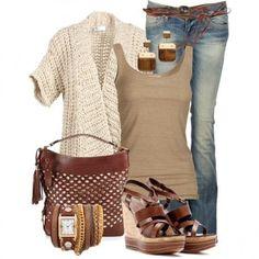 Look del giorno - Look safari con jeans