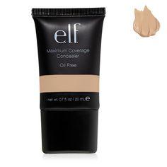 E.L.F. Cosmetics, Maximum Coverage Concealer, Nude, 0.70 fl oz (20 ml)