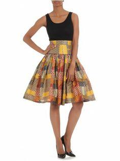 High-waisted skirt Multi-colour