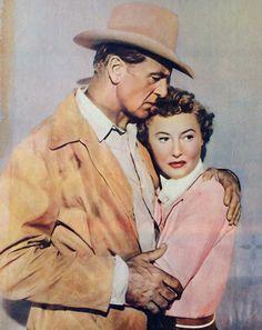 """Gary Cooper y Barbara Stanwyck en """"Soplo Salvaje"""" (Blowing Wild), 1953"""
