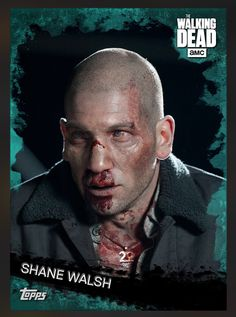 Shane Walsh (Teal Parallel) Insert Card The Walking Dead 2016 Topps