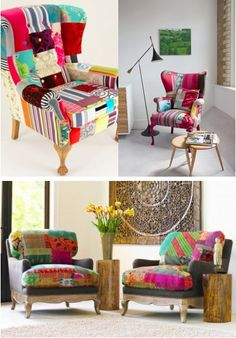 Sillones patchwork