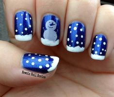 Simple Snowman nail art featuring ILNP Summer Stargazing and Winstonia plate, holiday nails, winter nails, snow nail art Snow Nails, Xmas Nails, Holiday Nails, Winter Nails, Nail Designs 2015, Fingernail Designs, Toe Nail Designs, Christmas Nail Designs, Christmas Nail Art