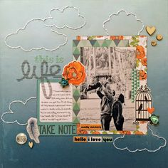 Megan used Glitz's 77 Collection for this layout. frosted-designs.com