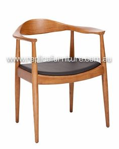 Buy the Hans Wegner Round Chair from Replica online, or view in our Brisbane Furniture Store. This classic Danish reproduction wooden chair by Hans Wegner was designed in the and is also known as The Chair. Eames Dining Chair, Bentwood Chairs, Outdoor Dining Chairs, Dining Table, Hans Wegner, Herman Miller, Black Seat Pads, Comfortable Dining Chairs, Danish Chair