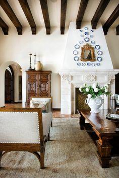 Mexican interior design deco Ideas colonial wooden furniture