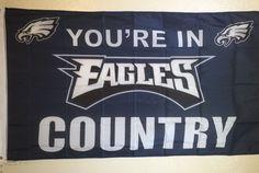 NFL Philadelphia Eagles Football Flag Banner 3x5 Mancave Tailgate Indoor Outdoor…