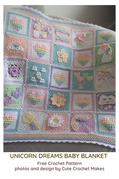 Crochet Baby Blanket Free Pattern, Crochet Purse Patterns, Baby Patterns, Free Crochet, Simple Crochet, Crochet Unicorn Blanket, Baby Afghan Crochet Patterns, Bobble Crochet, Bobble Stitch
