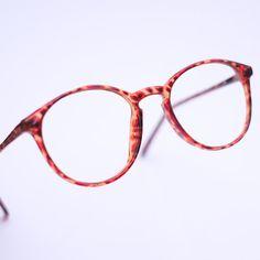 79800633e4 90s Vintage Retro Glasses Frames   Oversized Retro Eye Glasses   Tortoise  Shell   Round Eyeglasses