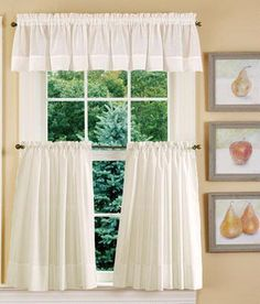 Tier Curtains Striped Semi-Sheer Tier Curtains - Country Curtains®