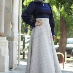 Welcome to Modanisa Muslim Fashion, Hijab Fashion, Hijab Outfit, Dresses Online, High Waisted Skirt, My Style, Skirts, How To Wear, Outfits