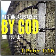 Because it is written, Be ye holy; for I AM HOLY.     1 Peter 1:16 christian life