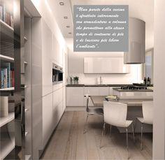 La parete attrezzata offre molto contenimento e la possibilità di incassare vari elettrodomestici #casa #home #cosedicasa #arredamento #arredamentocasa #design #living #house #office #kitchen #cucina