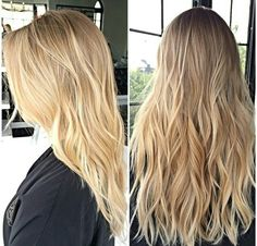 Perfect blonde waves. Long surfer hair.