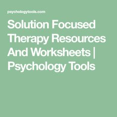 Solution Focused Brief Therapy (SFBT) Worksheets Group Therapy Activities, Therapy Worksheets, Counseling Activities, School Counseling, Play Therapy Techniques, Therapy Tools, Therapy Ideas, Solution Focused Therapy, Art Therapy Directives