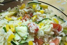 Sommerlich leichter Reissalat