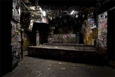 The stage at CBGB's - had the pleasure of stumbling pass it to get to the bathroom...
