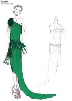 PRADA | THE GREAT GATSBY | Costume sketch
