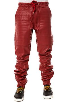 The Vegan Leather Jogger Pants in Red by KITE use rep code: OLIVE for 20% off!!