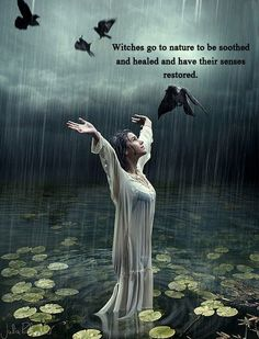 Witches go to nature to be soothed and healed and have their sense restored. #wicca #witchcraft