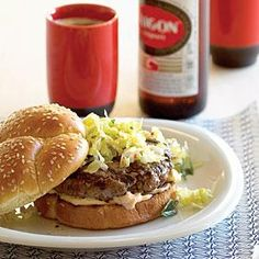 Korean Kimchi Burgers Recipe | MyRecipes.com