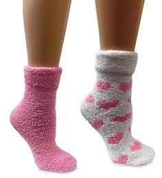 2-Pair Of Lavender-Infused Fluffy Chenille Socks