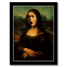 sold ! Caravaggio's Mona Medusa Post Card      SHIPPING TO Deland, FL