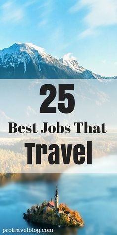 Learn how to travel the world while working! Here are the best travel jobs to make money and have fun at the same time!