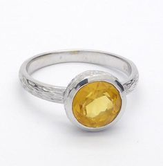 925 Sterling Silver and Citrine ring   dainty ring with nicely worked detail   only $49.95   genuine semi precious stone   Australian supplier   Melbourne Australia