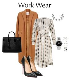 """Work"" by cgraham1 on Polyvore featuring The 2nd Skin Co., Theory, Christian Louboutin, Yves Saint Laurent, Allurez, Rolex and H&M"
