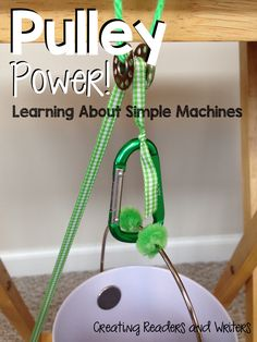 Have fun learning about simple machines with these hands-on science materials. (Creating Readers and Writers Blog) #simplemachines #science