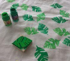 Moosgummi-Stempel: Blätter